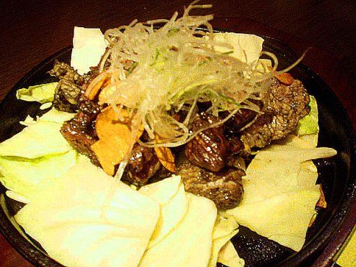薩摩地鶏の炭火鉄板焼き